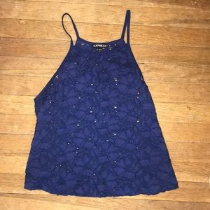 Cropped Lace Floral Tank